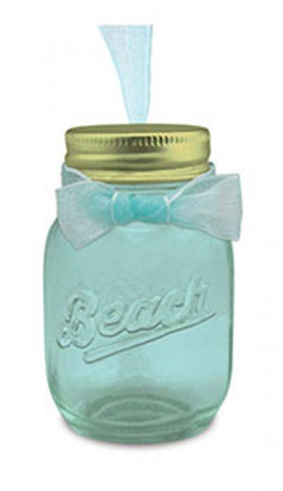 Glass Jar Ornament - Beach
