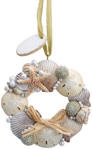 Resin Ornament - Shell Wreath