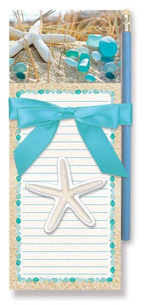 Magnetic Pad Gift Set - Beach Walk Sea Glass