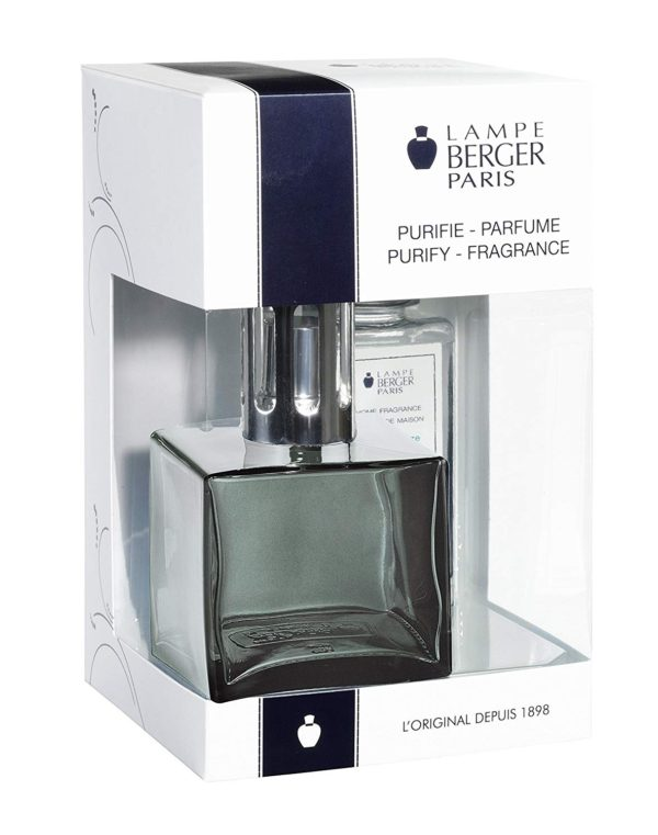 Cube Onyx Gift Set - Glass Lampe home fragrance air purifier by lampe berger maison berger