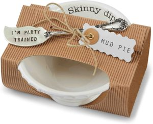 Amazon.com Mud Pie 4851031S Bowl and Spreader Gift Set, Skinny Dip