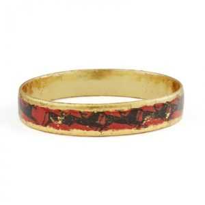 Greek Horses Bangle - Orange