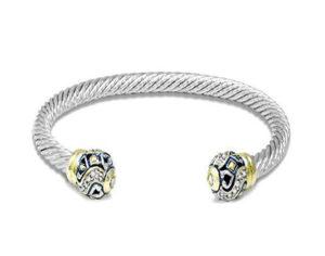 two tone open bangle bracelet handmade in the USA by john medeiros