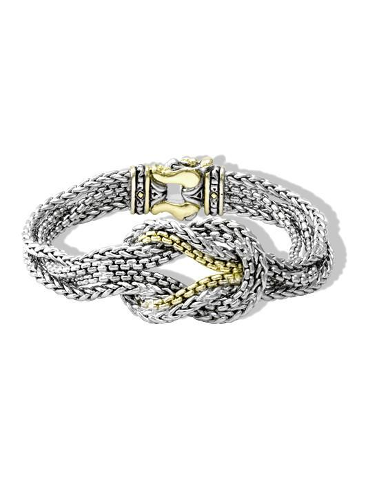 two tone knot bracelet handcrafted by john medeiros