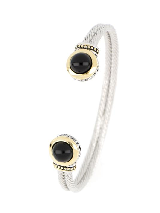 Onyx 8mm Cuff handcrafted in the USA by john medeiros