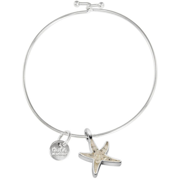 starfish bangle bracelet handmade in the USA by dune jewelry