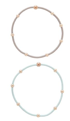 """e""ssentials bracelet stack of 2 - signature set"
