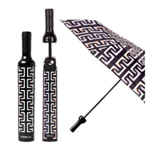Geometric Black Bottle Umbrella