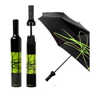 Artistic Black/Jade Bottle Umbrella