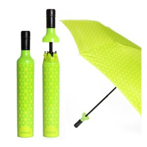 Our Botanical Green designer Umbrella in a Wine Bottle is inspired by those who want to live in an eternal spring – where an excitement and zeal for life is on display. It's an umbrella for spreading a good mood, poking fun at an otherwise dreary rain and walking with a skip in your step.