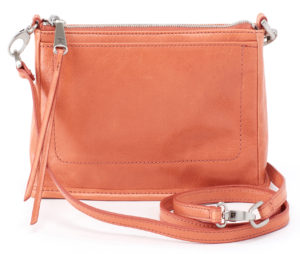 leather Cadence Dusty Coral Crossbody by hobo the original