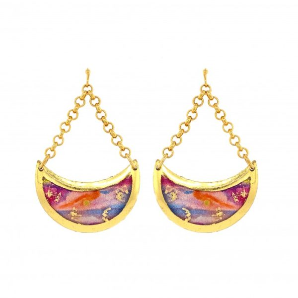 Morning Run Crescent Earrings