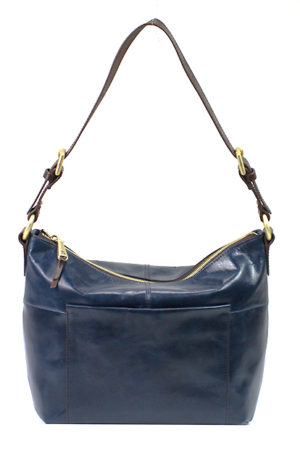 leather Charlie Sapphire Shoulder Bag by hobo the original