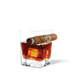 cigar holder whiskey glass by corkcicle