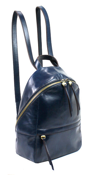 leather Cliff Backpack Sapphire by hobo the original