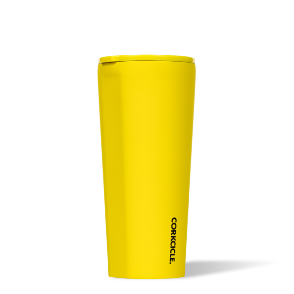 Neon Lights yellow 24 oz Tumbler corkcicle