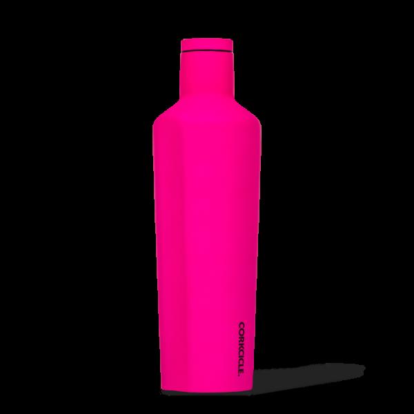Corkcice Neon Lights pink 25oz Canteen