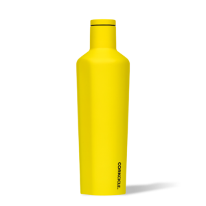 Corkcice Neon Lights yellow 25oz Canteen