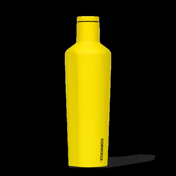 Corkcice Neon Lights yellow 25oz Canteen