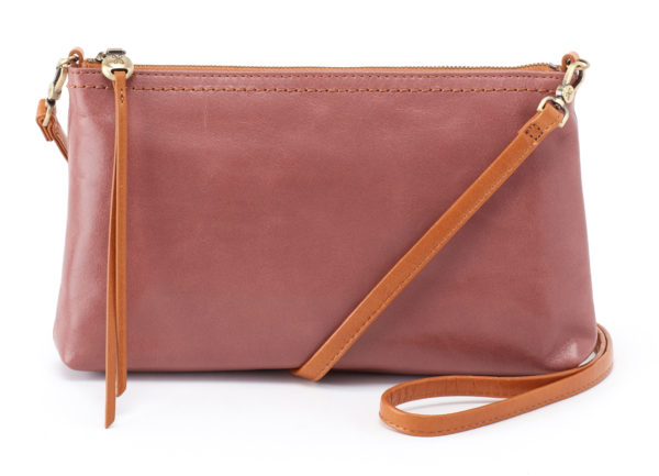 leather Darcy Burnished Rose Crossbody by hobo the original