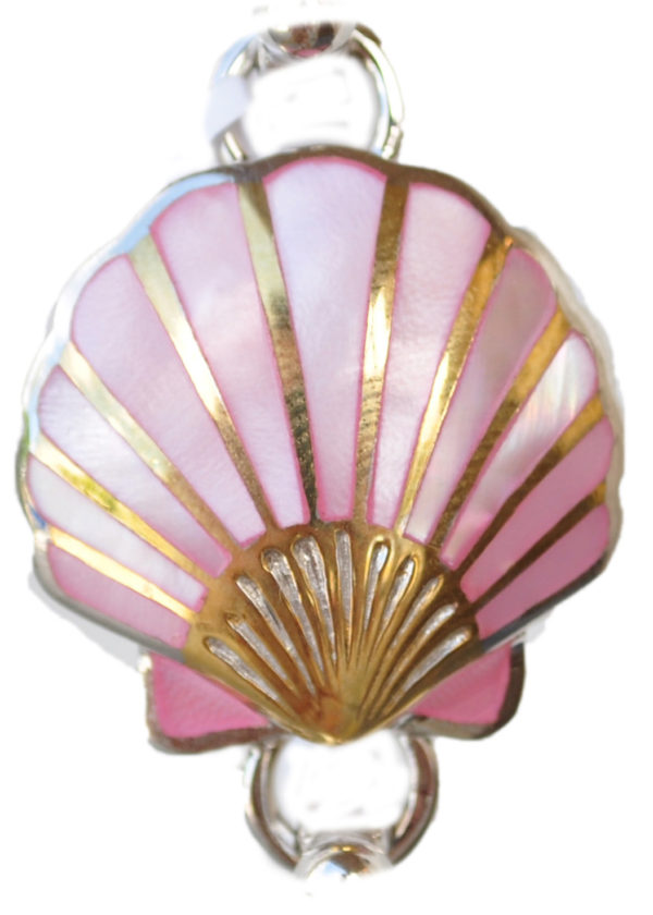 Sterling silver and 18kt gold scallop shell Topper with mother of pearl by kovel