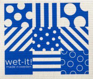 Dots & Stripe Blue Towel