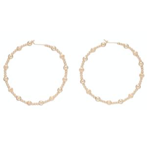 "Beaded 1.75"" Hoop - Dignity Gold Sincerity Pattern"