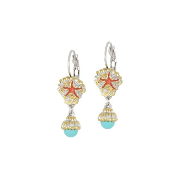 CARAÍBA COLLECTION SHELL FRENCH WIRE EARRINGS
