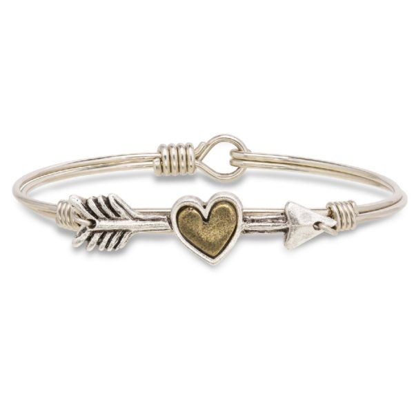 Follow Your Heart Bangle Bracelet handmade in the USA by luca + danni