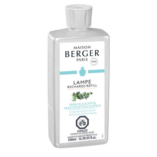 New Fresh Eucalyptus scent home fragrance by lampe berger maison berger