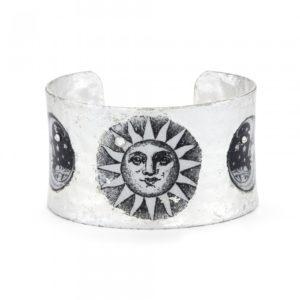 Sun and Moon Corset Cuff - Silver