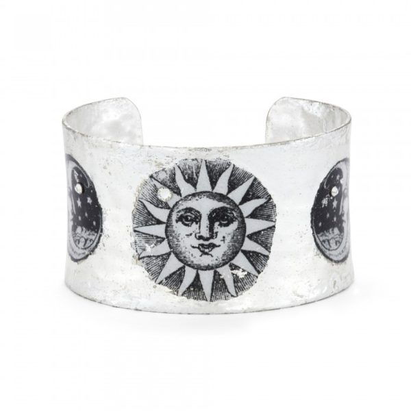 Sun and Moon Corset Cuff - Silver