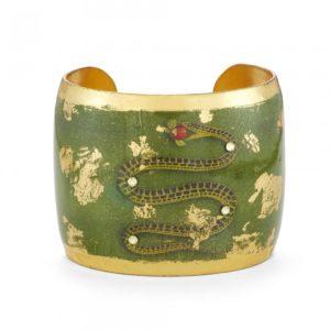 Snake Cuff - Green