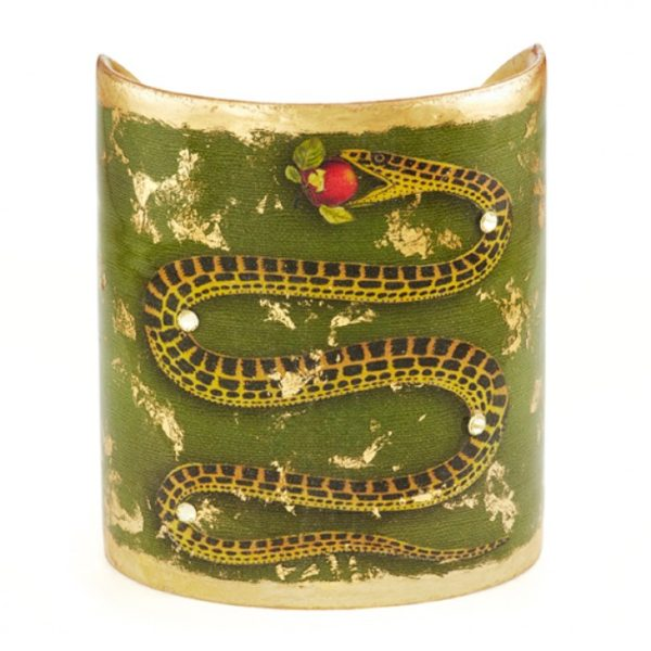 """Green Snake Cuff - 3"""""""