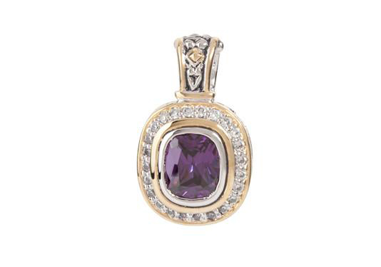 two tone purple stone pave accented enhance handcrafted by john medeiros