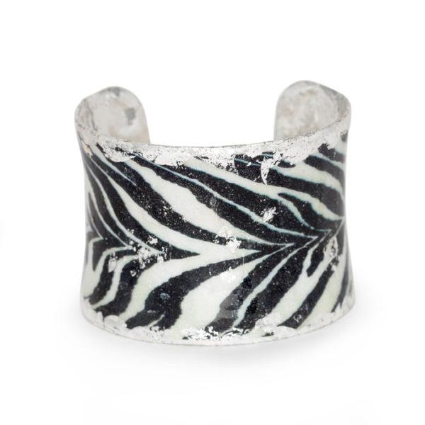 Zebra Corset Cuff - Silver