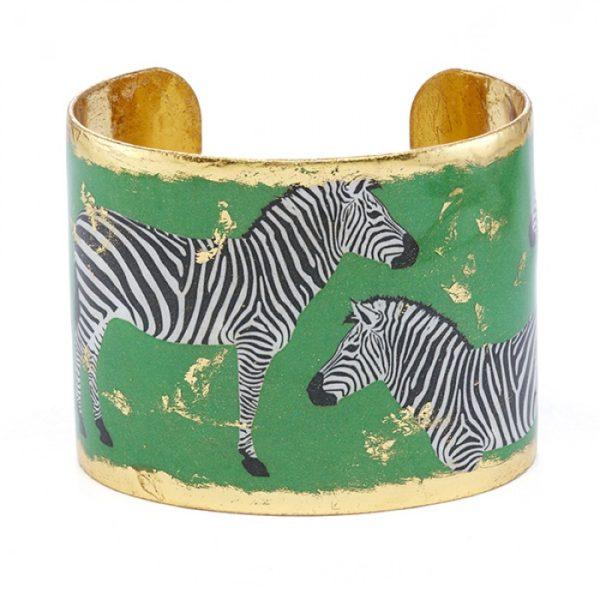 Zebra Dreams Cuff - Green