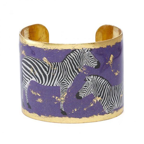 Zebra Dreams Cuff - Purple
