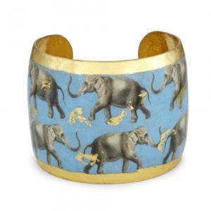 Elephant Row Blue Cuff