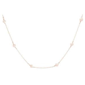 "15"" Choker Simplicity Chain Gold - 4mm Bead Pearl"