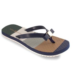 Katie Navy Navy color block arched flip flop with soft ribbon thong switch flops by lindsay phillips
