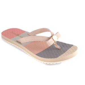 Katie Cream Cream color block arched flip flop with soft ribbon thong switch flops by lindsay phillips
