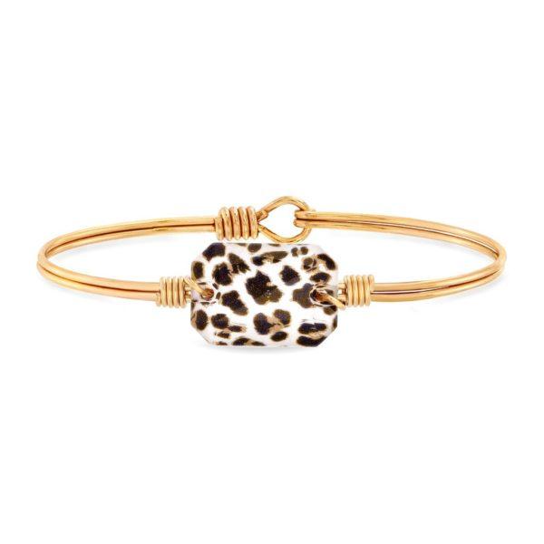 Dylan Bangle Bracelet in Leopard
