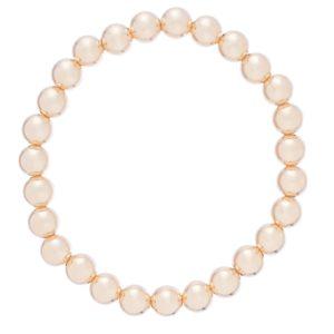 classic gold 7mm bead bracelet