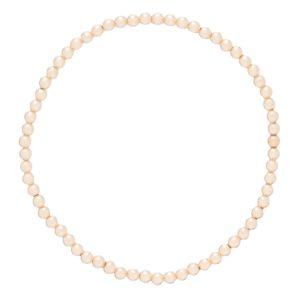 classic gold 3mm bead bracelet