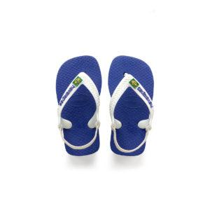 BABY BRAZIL LOGO FLIP FLOPS MARINE BLUE