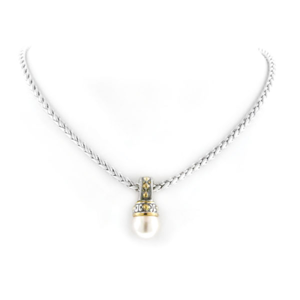 two tone Pearl Enhancer with Chain