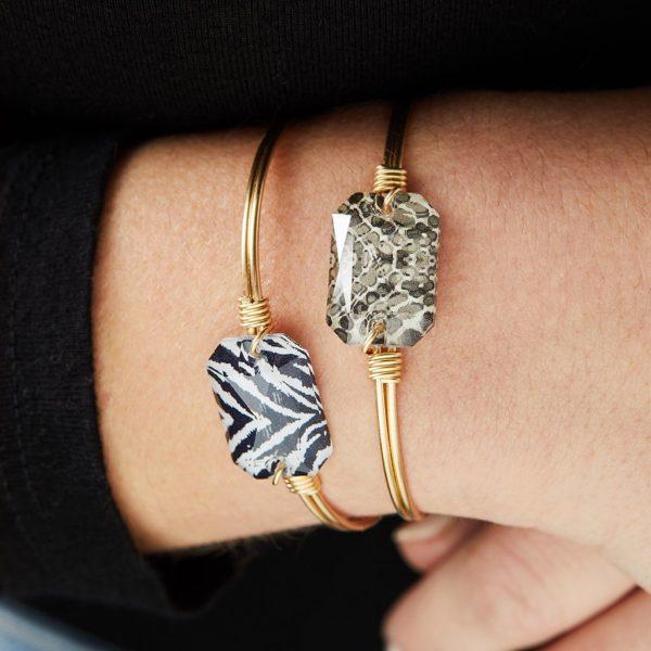 Dylan Bangle Bracelet in Zebra