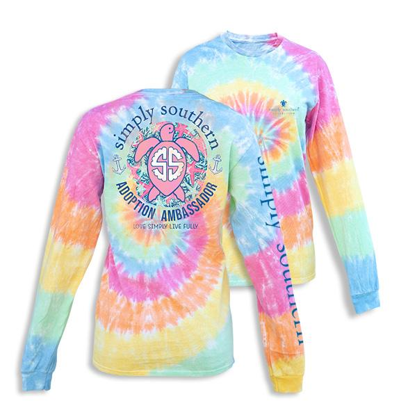 Save The Turtles Ambassador Tie Dye long sleeve tee shirt simply southern