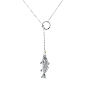 lariat red fish necklace by nau-t-girl